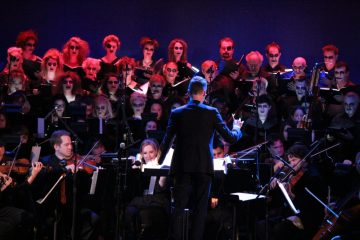 Brian Tyler conducts the Golden State Pops Orchestra.